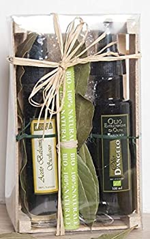Lot de LUXE : Huile d'olive BIO - Vinaigre balsamique naturel 12 ans d age COFFRET CADEAU 2 Spray rechargeables- produit naturel