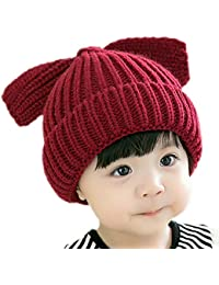 Scrox 1 Set bébé Hiver Laine Bonnet écharpe Set Windproof Casual Bonnet  pour Enfants Unisexe Garçons 50029137f2c