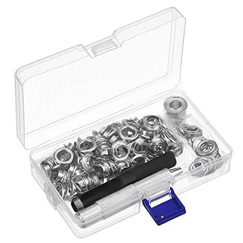 Pangda Grommet Werkzeug Kit, Tüllen-Einstellwerkzeug und 100 Set 2/ 5