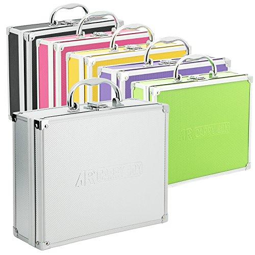 AR CarryBox® Kleiner Alukoffer Werkzeugkoffer Aluminium Koffer leer 260x210x80mm verschiedene Farben, Silber