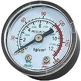 sourcingmap® 1/8BSP Compresseur d'air hydraulique arrière Support manomètre 0-180PSI