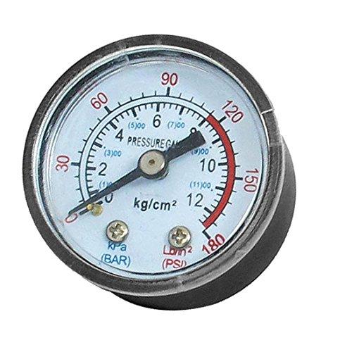 sourcingmap® 1/8BSP Air Kompressor Hydraulik Rückseite Halterung Manometer 0-180Psi de -