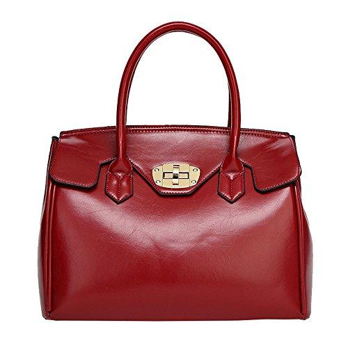spalla-borse-borsetta-stile-semplice-pelle-pu-solido-colore-donna-vino-rosso