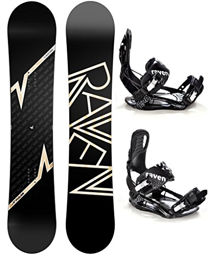 Snowboard Set: Snowboard Raven Pulse Camber + Bindung Raven s220 Black XL