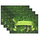 GOODSTHING napperon, St Patrick's Day Placemats for Dining Table Heat Resistant...