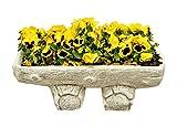 Antikes Wohndesign 3 x Blumenkübel Pflanzkübel Blumentopf Amphore Pflanzschale Steinmöbel