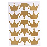 Baoblaze 18er-Set Prinzessin Krone Tafelfolie Klebefolie Etiketten Sticker Gläser Folie - Gold, 29 x 21cm