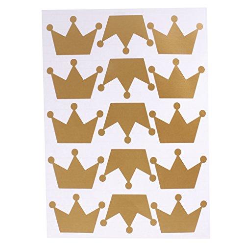 inzessin Krone Tafelfolie Klebefolie Etiketten Sticker Gläser Folie - Gold, 29 x 21cm ()