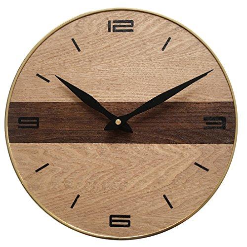 Shuangklei 30cm orologio da parete vintage retrò di antiquariato in legno massiccio textured mute orologi da parete home decor di alta qualità dropshipping