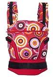 Manduca 222-10-13-007 Baby und Kindertrage, Limited Edition Circadelic Wine, Bauch, Rücken und Hüfttrage, 100% BIO Baumwolle