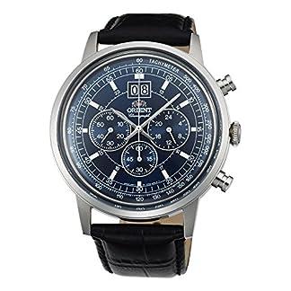 Orient Reloj Cronógrafo para Hombre de Cuarzo con Correa en Cuero FTV02003D0