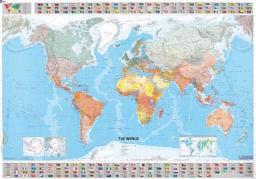 Il mondo 1:28.500.000. Carta plastificata (Carte murali) por Michelin