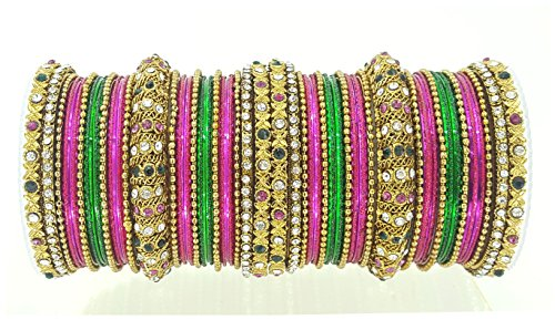 YouBella Traditional Bridal Jewellery Gold Plated Chura /Chuda Bangles Jewellery for Women and Girls (2.4)