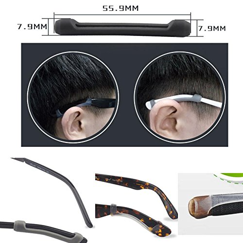 Silikon Anti-Rutsch-Ohrpolster für Brillen 1 Paar -