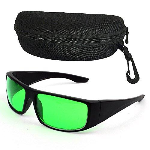 Esbaybulbs Gafas Protectoras de Crecer Luces Protecciones para Los Ojos contra Rayos Rojo,Azul,UV, IR,y así,LED Gafas de Seguridad