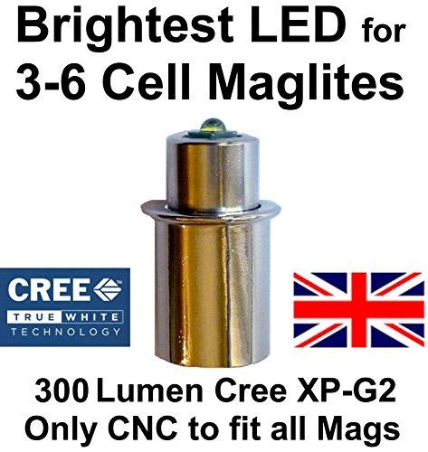 Maglite LED Upgrade Modul Birne - für 3 - 6 C/D-Cell Taschenlampen 300 Lumen, UpLED