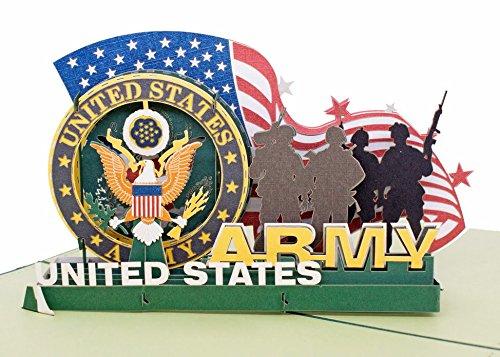 etes Grußkarte 3D Pop-up-Karte Karte Armee ()