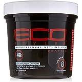 Eco Styler Gel coiffant - Enrichi en protéines pour revitaliser et renforcer les cheveux - Pot rouge et noir de...