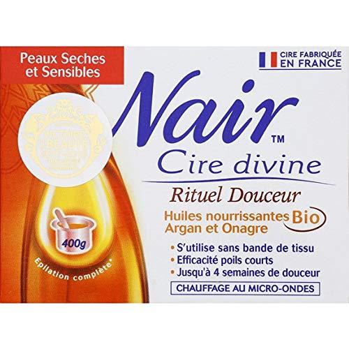 Nair - Cire Rituel Douceur Huiles Bio Argan Et Onagre - La Boite De 400G - Livraison Gratuite pour les commandes en France - Prix Par Unité