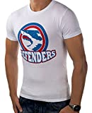 JACK & JONES Herren T-Shirt Summer-Sale Verschiedene Modelle (L, Weiß Hai Husky)