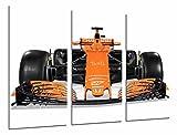 Cuadros Camara Tableau Moderne Photographique, Impression sur Bois, McLaren Honda Formule 1, Fernando Alonso 2017, 97 x 62 cm, ref. 26572