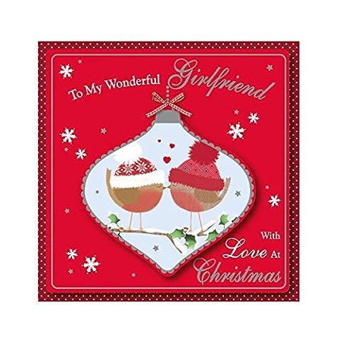 Eurowrap 19cm Weihnachten einzeln Mini Box Karten–niedliche Freundin