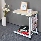 WU Einfacher Und Moderner Abnehmbarer Nachttisch Hebe Schlafzimmer Kleiner Couchtisch Fauler Computertisch Sofa Kleiner Schreibtisch/Couchtisch,Style2,Einheitsgröße