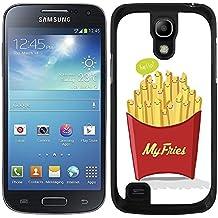 """Funda carcasa para Samsung Galaxy S4 Mini diseño ilustración """"My fries"""" patatas fritas borde negro"""