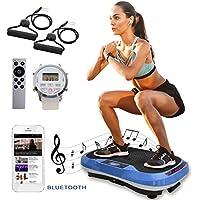 Preisvergleich für XPLON VPM015 Vibrationsplatte Vibration Platte inkl. Zugbänder Trainingsbänder 99 Stuffen USB Bluetooth Musik 200 Watt