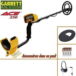Garrett–Metalldetektor Ace 250Lieferung mit seinem schützt Festplatte + Kopfhörer, kabelgebunden, faltbar.