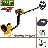 Garrett - dÃtecteur de mÃtaux ACE 250 livrà avec son protège disque + casque filaire pliable