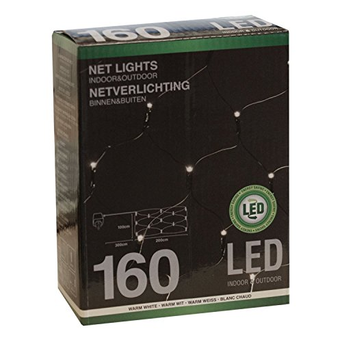 Preisvergleich Produktbild Weihnachtsdekoration 160 LED – Beleuchtung Außen Lichternetz