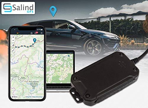 Salind GPS-Tracker Auto, Motorrad und Fahrzeuge mit SIM-Karte, kostenlose App für Android und iPhone, Live-Ortung in Echtzeit, Mini mit internem Akku - ABO VON 4,99 € / Monat ERFORDERLICH ...