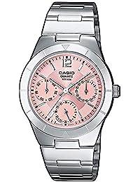 Casio Reloj Multiesfera para Mujer de Cuarzo con Correa en Acero Inoxidable LTP-2069D-