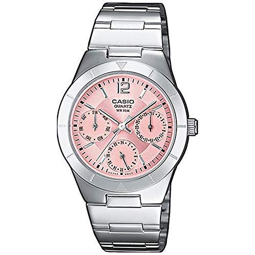casio orologio analogico al quarzo donna con cinturino in acciaio inox ltp-2069d-4avef