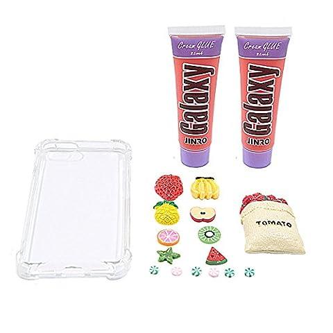 Super mignon DIY 3d Lovely Crème Série Coque pour iPhone 7plus