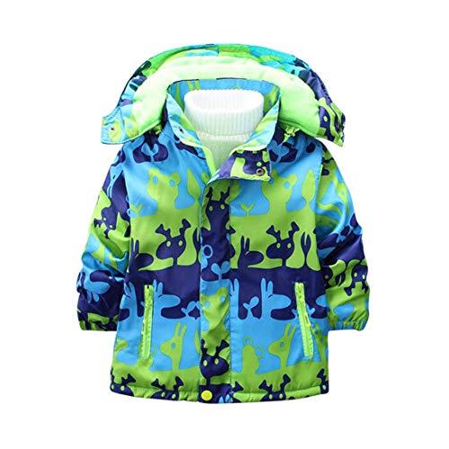 Zhhlinyuan Outdoor Kinder Jacken und Mäntel Winter Fleece Gefüttert Jungen Ski Mantel Warm Gepolsterte Winddichte Jacke Fleece-lightweight-parka