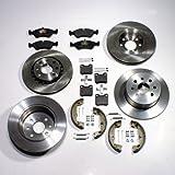 Bremsscheiben 4-Loch Bremsen Bremsbeläge vorne hinten Handbremsbacken Zubehör für hinten