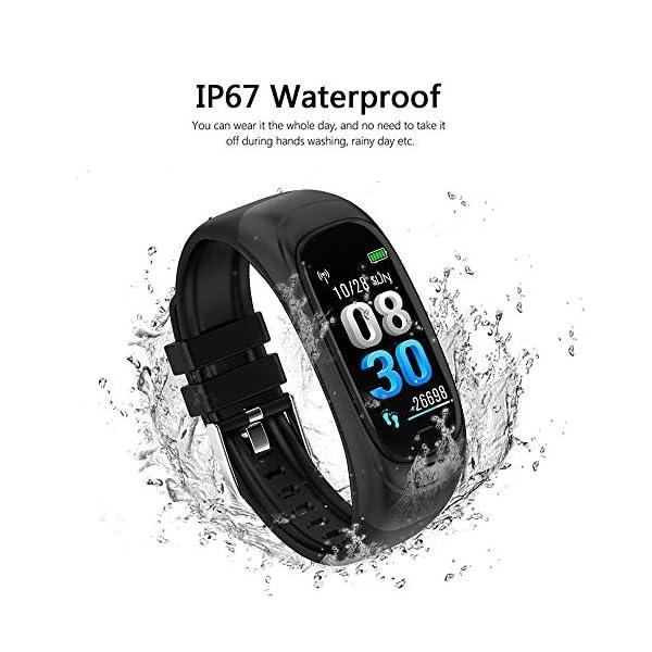 Festnight CES12 Fitness Tracker USB Flash Drive Reloj Inteligente Contador de Pasos Universal Monitor de Ritmo cardíaco Deporte Reloj Resistente al Agua 4