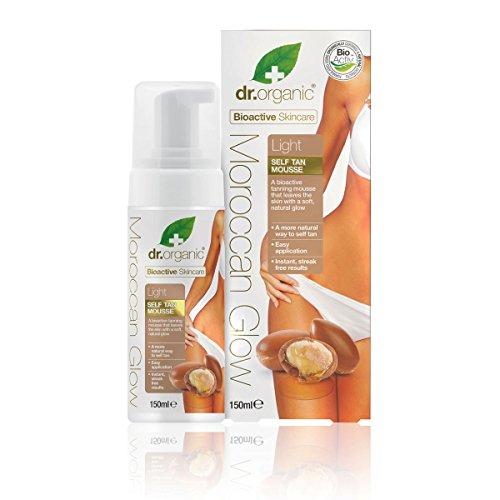 Dr organic moroccan glow mousse autoabbronzante leggera - 150 ml