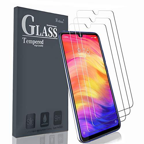 Ferilinso Schutzfolie Kompatibel mit Xiaomi Redmi Note 7 Pro/Redmi Note 7, [3 Pack] Panzerglas Schutzfilm aus gehärtetem Glas Xiaomi Redmi Note 7 Pro/Redmi Note 7