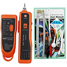 Sunkee alta calidad RJ11 RJ45 Cat5 Cat6 Teléfono Cable Tracker Tracer Toner Ethernet LAN red Cable Tester Detector Line Localizador