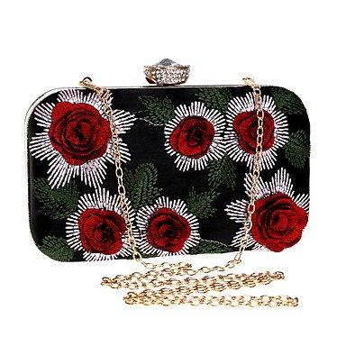 KUKIE Best 4U® Damen Taschen Polyester Abendtasche Stickerei für Hochzeit Veranstaltung Fest Alle Jahreszeiten Gold Silber Rote -