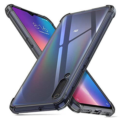 deconext Custodia Compatibile con Mi 9, MI9 Cover Chiaro TPU Trasparente Antiurto Silicone TPU Bordi Sollevati Protezione Cover per Xiaomi Mi 9(2019) 6,39