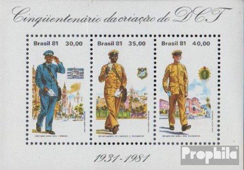 Prophila Collection Brasilien Block45 (kompl.Ausg.) 1981 Post- und Telegraphenamt (Briefmarken für Sammler) Uniformen / Trachten