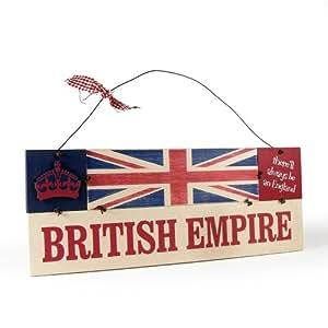 Heartwarmers British Empire Vintage Wooden Union Jack Sign Plaque