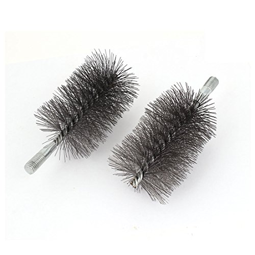 sourcingmap 12mm Thread 70mm Dia Steel Wire Pipe Tube Cleaning Chimney Brush 2pcs Test