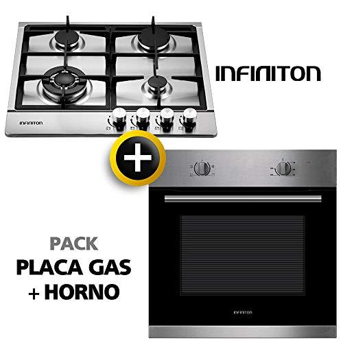 Pack Horno + Placa Gas INFINITON Placa de Gas mas Horno multifuncion, Pack Ahorro Gas + Horno