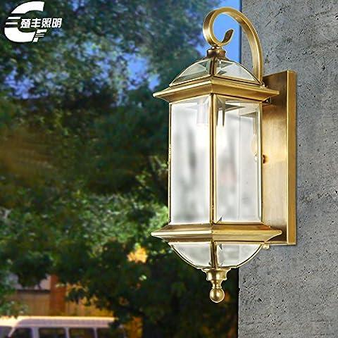 GYY Light Luces de pared de cobre iluminado patio exterior lámpara de pared lámpara cabeza villas decoradas caballo lámparas de alta gama