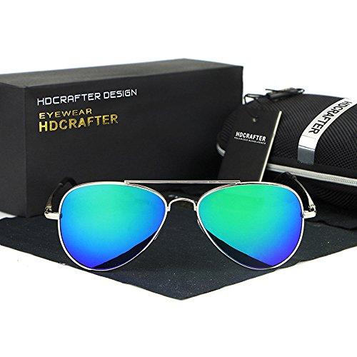 YanFa Sunglasses Mann, Sonnenbrille, Mode, Freizeit, im Freien, grün, S11224